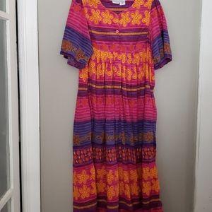 BEAUTIFUL Fun Caftan Moomoo Dress Size 1X